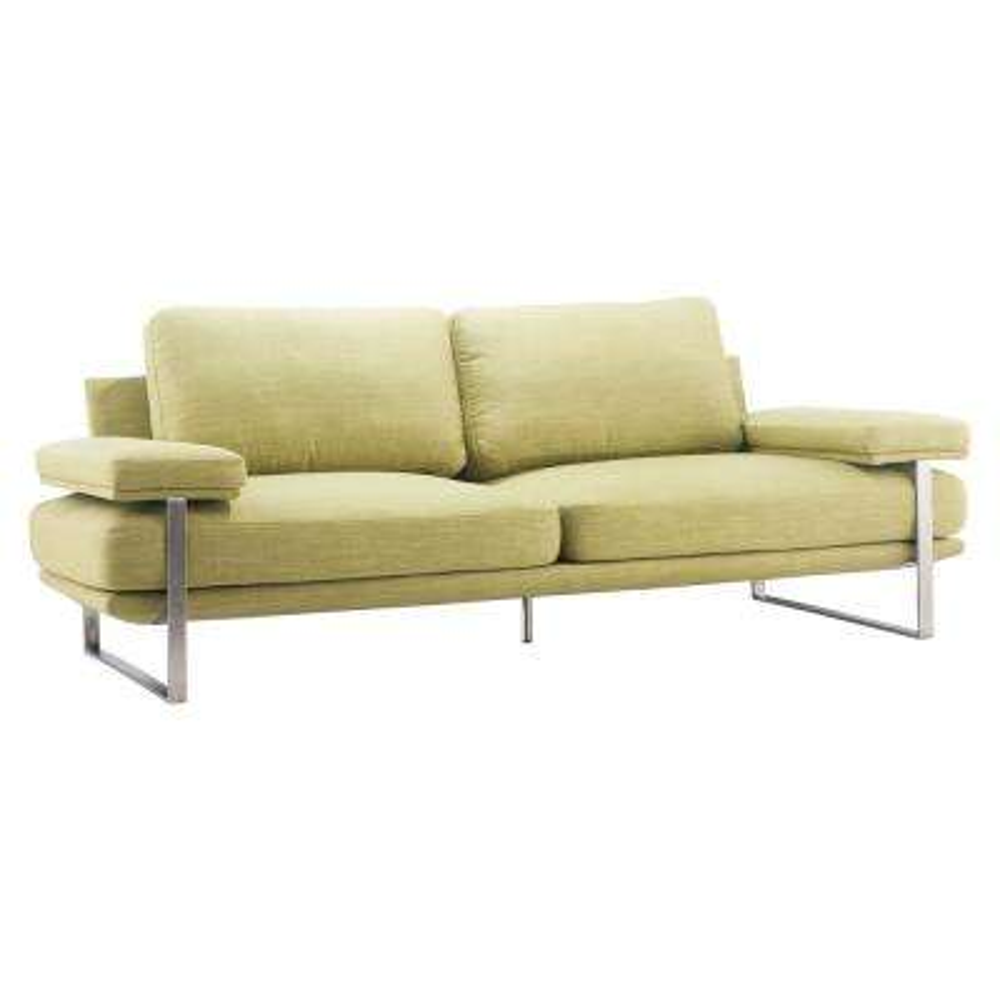 Jonkoping Lime Fabric Sofa Green Tan