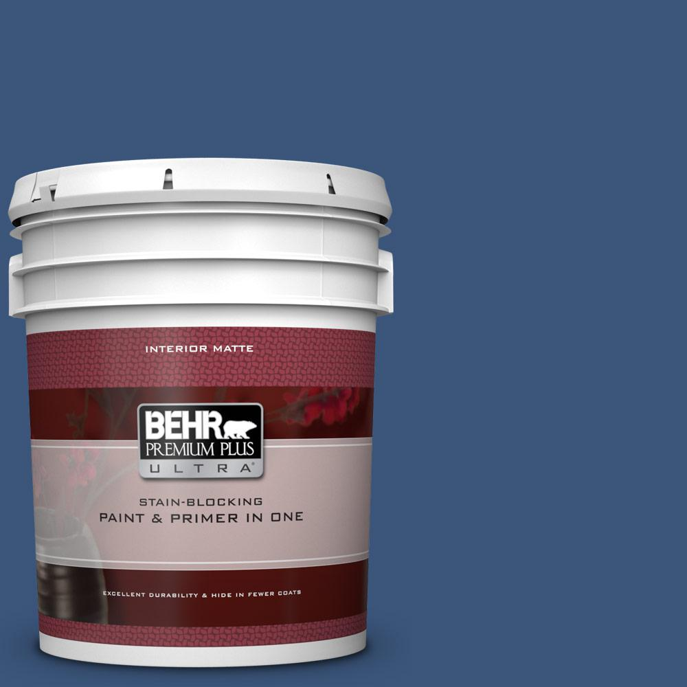 e4844bed9 BEHR Premium Plus Ultra 5 gal. #590D-7 Star Spangled Matte Interior Paint  and Primer in One