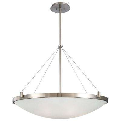 Suspended 6-Light Brushed Nickel Pendant