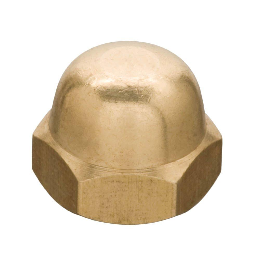 1/4 in. Coarse Solid-Brass Cap Nut