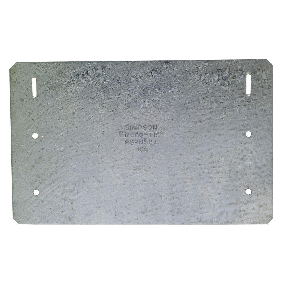 Simpson Strong-Tie ZMAX Galvanized 5 in. x 8 in. 16-Gauge Protecting ...