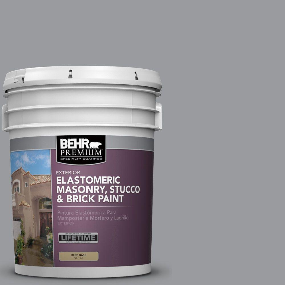 behr premium 5 gal ms 82 cobblestone grey elastomeric