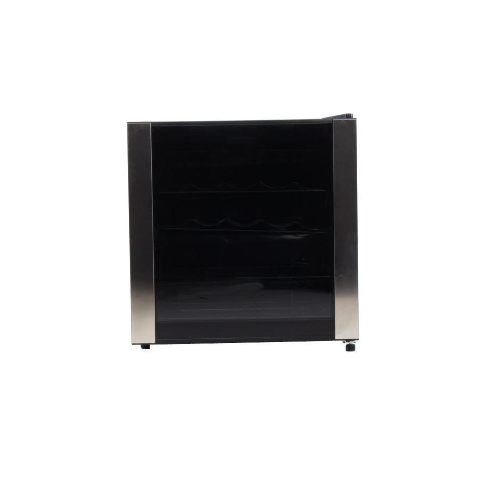 Equator-Media 1.7 cu. ft. 16-Bottles Wine Cooler in Black with Stainless Steel Trim
