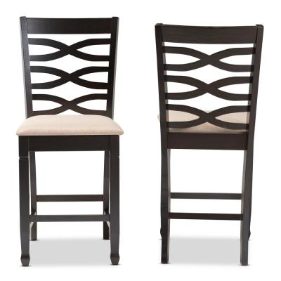 Lanier 43 in. Sand Brown and Espresso Bar Stool (Set of 2)