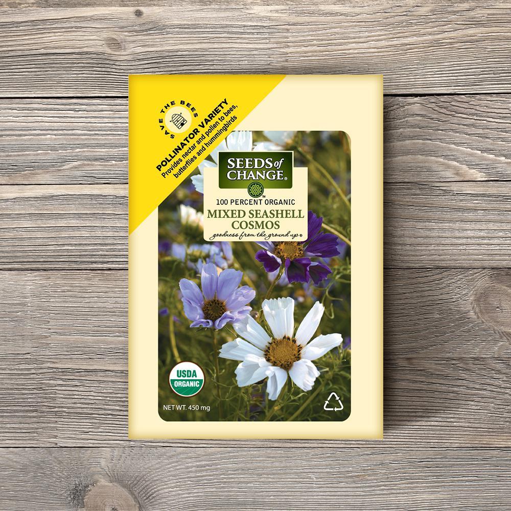 0.01 lbs. Organic Mixed Seashell Cosmos Flower Seed