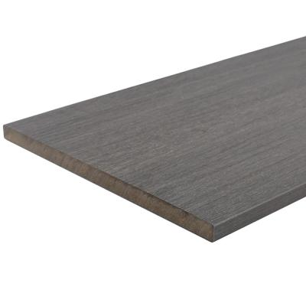 UltraShield 0.6 in. x 12 in. x 12 ft. Westminster Gray Fascia Composite Decking Board