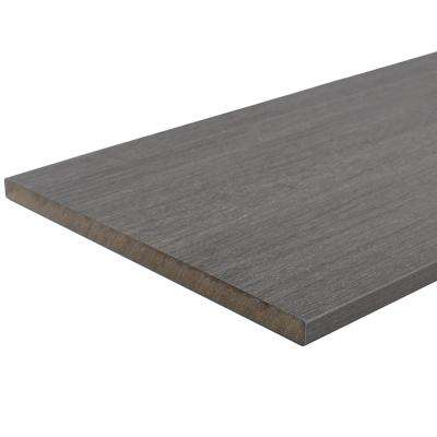 UltraShield 0.6 in. x 12 in. x 12 ft. Westminster Gray Fascia Composite Decking Board