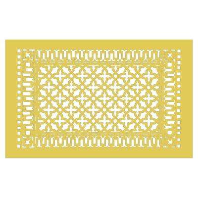 Scroll Series 30 in. x 18 in. Aluminum Grille, Sun Gold without Mounting Holes