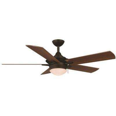 Edgemont 52 in. Indoor Espresso Bronze Ceiling Fan with Light Kit