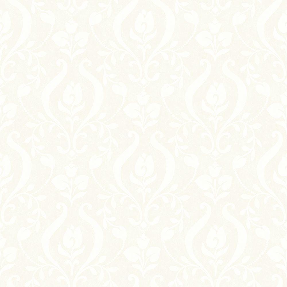 Eloise Light Grey Damask Wallpaper Sample