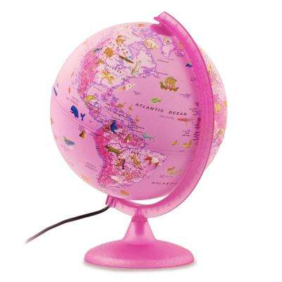 Safari Explorer Pink Animals 10 in. Illuminated Globe