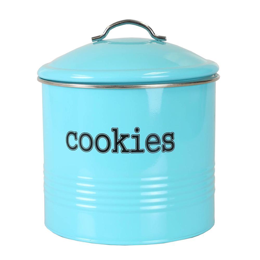 Home Basics Tin Cookie Jar Cs47384 The Home Depot