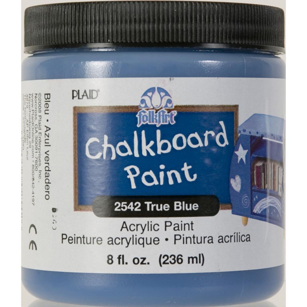 FolkArt 8 oz. True Blue Chalkboard Paint-2542 - The Home Depot