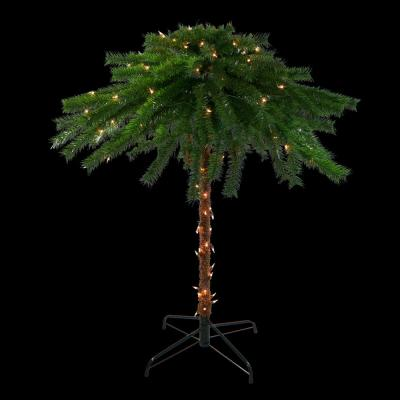 4 ft. Pre-Lit Clear Lights Artificial Tropical Outdoor Patio Palm Tree