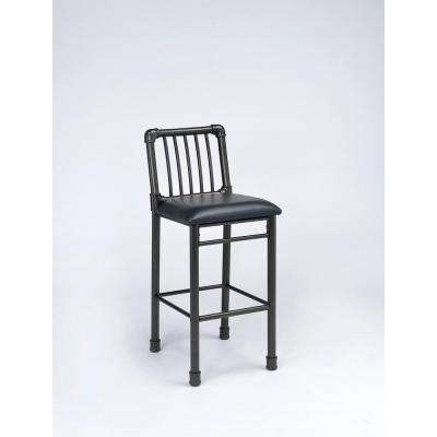 Caitlin 29 in. Black Cushioned Bar Stool (Set of 2)