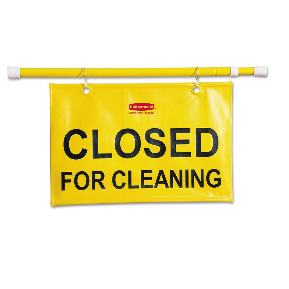 50 in. W x 1 in. D x 13 in. H Site Safety Hanging Sign in Yellow