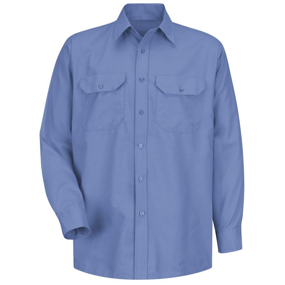 c1e9175e10653 Red Kap Men s Size 32 33 Short Petrol Blue Solid Dress Uniform Shirt ...