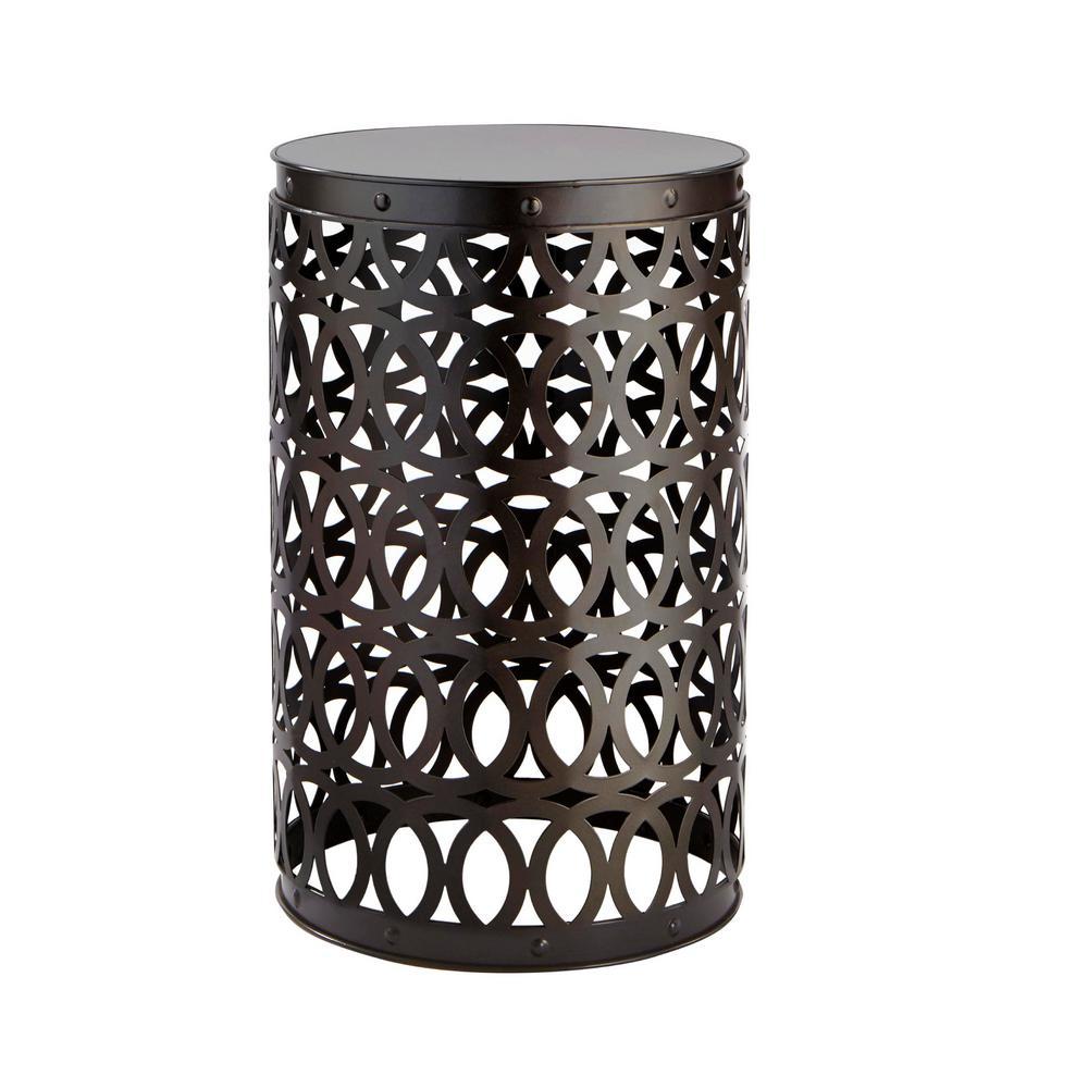 Seville Bronze 19.4 in. Metal Garden Stool