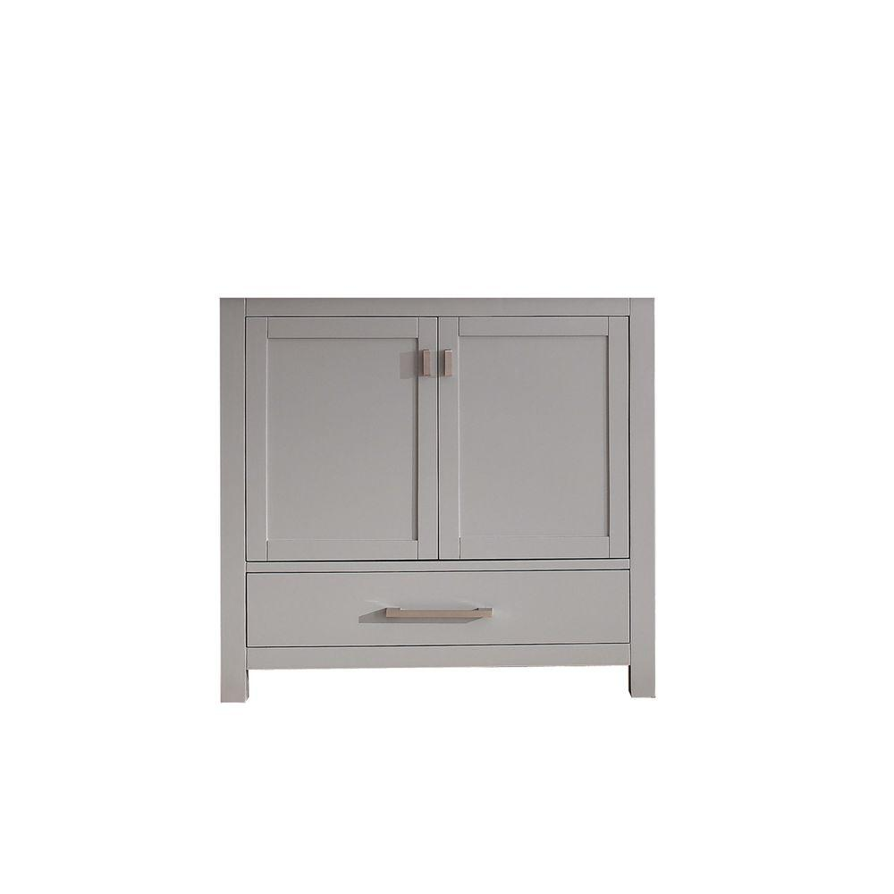 36 Modero Vanity For Undermount Sink: Avanity Modero 36 In. Vanity Cabinet Only In Chilled Gray