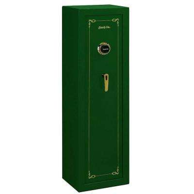 8-Gun Matte Hunter Green Combination Lock Safe