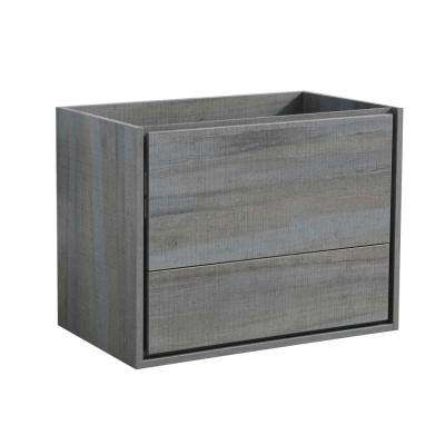 Catania 30 in. Modern Wall Hung Bath Vanity Cabinet Only in Ocean Gray