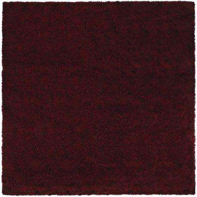 Urban Loft Red Brown 8 ft. x 8 ft. Square Area Rug