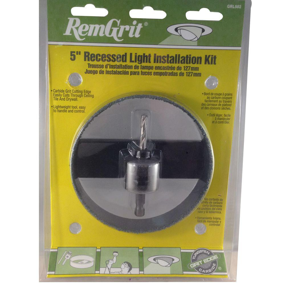 RemGrit 5-3/8 in. Carbide Grit Recessed Light Installation Kit