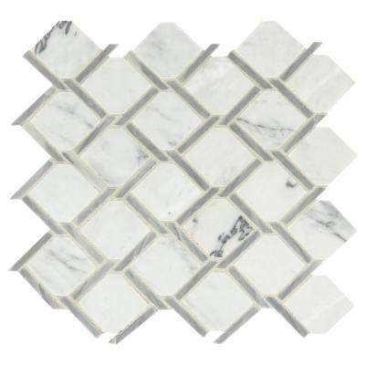 Premier Accents Fog Chain Link 12 in. x 12 in. x 8 mm Stone Mosaic Floor and Wall Tile (0.72 sq. ft. / piece)