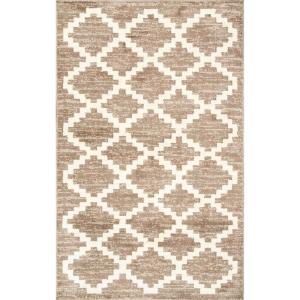 Faustina Geometric Beige 7 ft. x 9 ft.  Area Rug