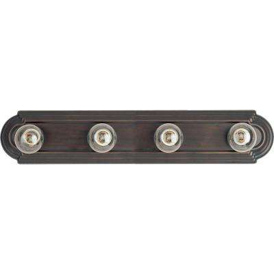 Essentials 4-Light Oil-Rubbed Bronze Bath Vanity Light