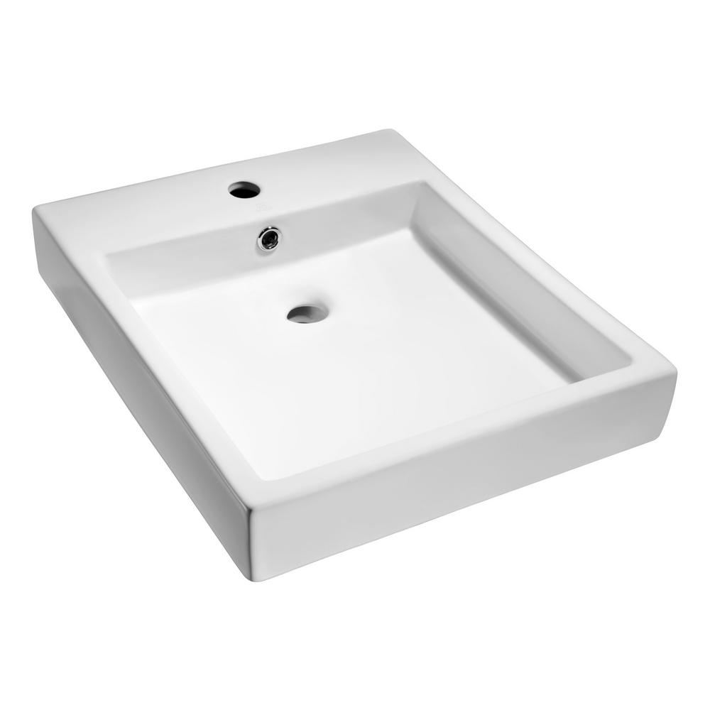 Deux Series Ceramic Vessel Sink in White