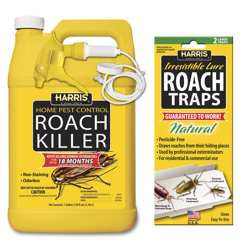 Harris 1 Gal. Roach Killer and Roach Trap Value Pack-HRS-128VP - The ...