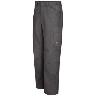 Men's 38 in. x 30 in. Charcoal Shop Pant