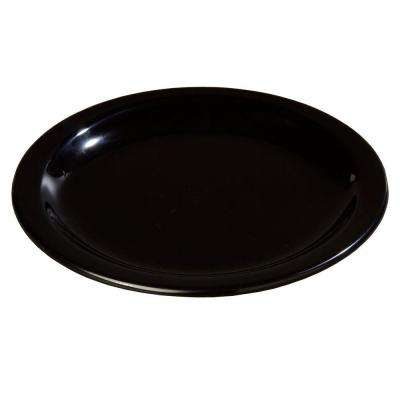 7.25 in. Diameter Melamine Salad Plate in Black (Case of 48)
