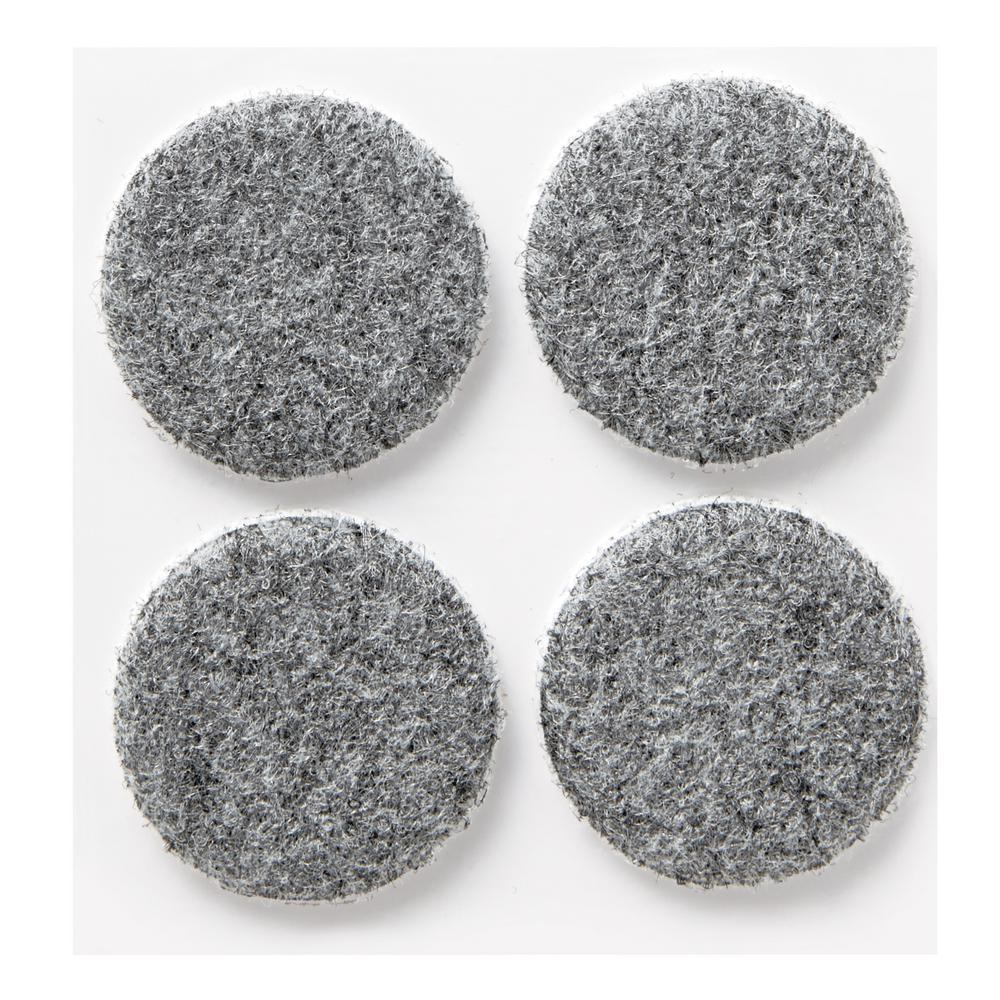 Scotch 1.5 In. Gray Round Heavy Duty Surface Protection Felt Floor