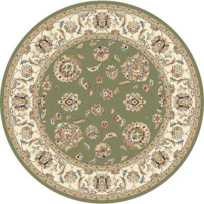 Judith Green/Ivory 8 ft. x 8 ft. Round Indoor Area Rug