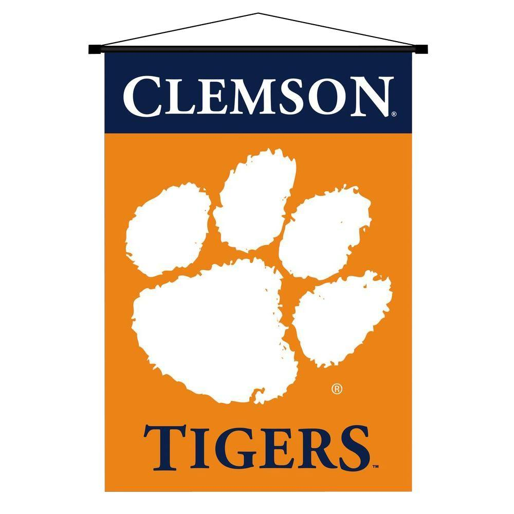 BSI Products NCAA Clemson Tigers Indoor 3 ft. 3 in. x 2 ft. 3 in. Banner Scroll