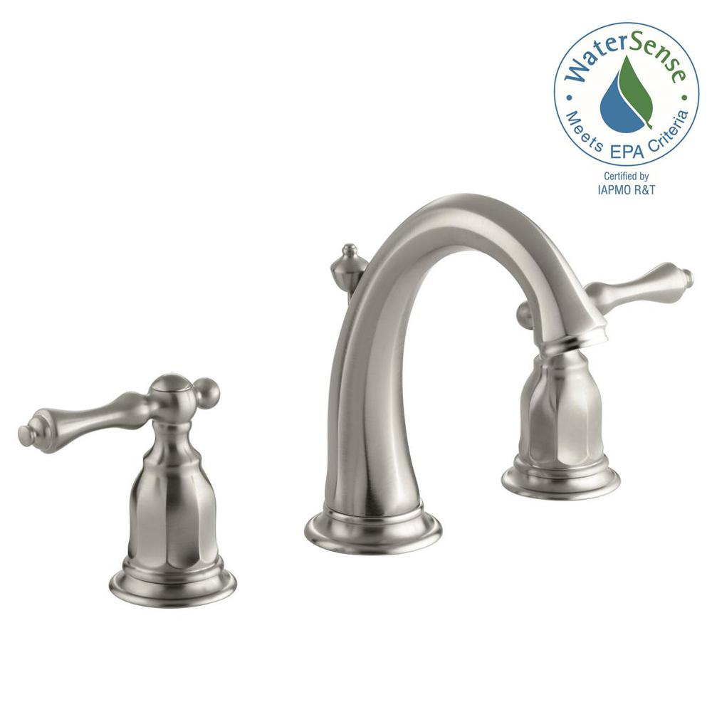Kelston 8 in. Widespread 2-Handle Low-Arc Water-Saving Bathroom Faucet in