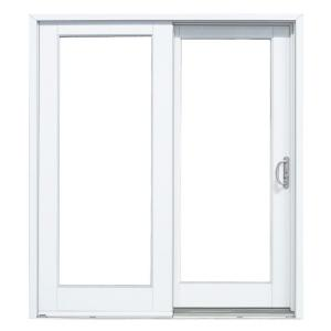 smooth white right hand composite sliding patio door g6068r00201 the home depot - Home Depot Patio Doors