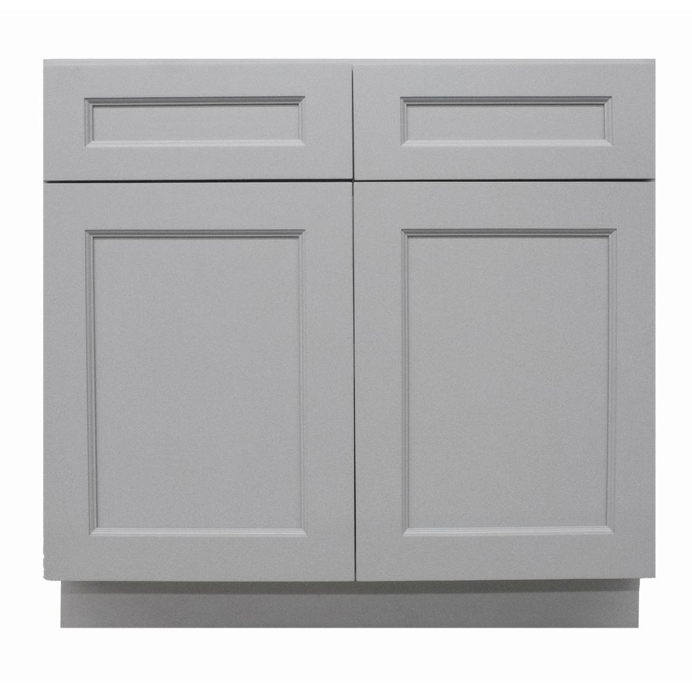 Charming Krosswood Doors Modern Craftsman Ready To Assemble 36x34.5x24 In. Base Cabinet  With 2