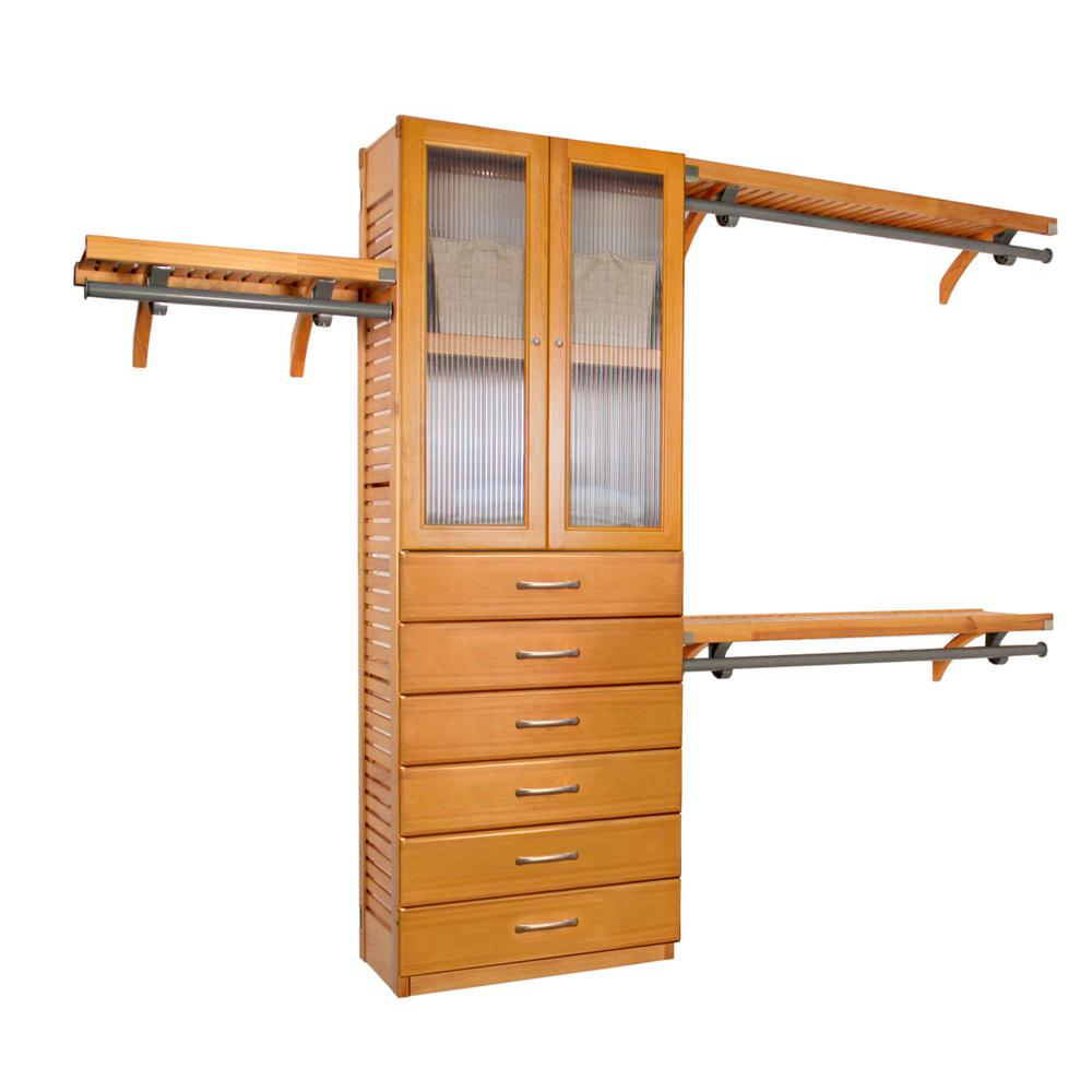 12 in. Deep Premier Closet System with Doors and 6 Drawers