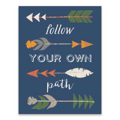 """Follow Your Own Path""  by Lot26 Studio Printed Canvas Wall Art"