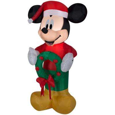 23.62 in. W 17.32 in. D x 42.13 in. H Airblown-Mickey with Wreath
