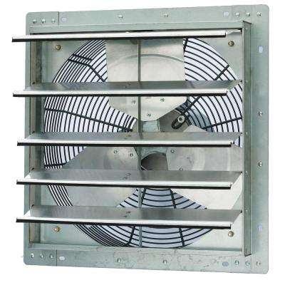 3852 CFM Silver Electric Powered Gable Mount Shutter Fan/Vent