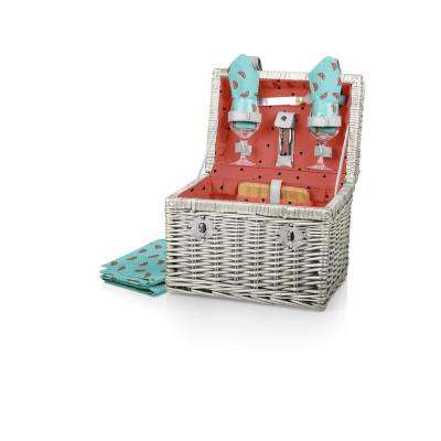 Watermelon Collection Napa Willow Wine and Cheese Basket