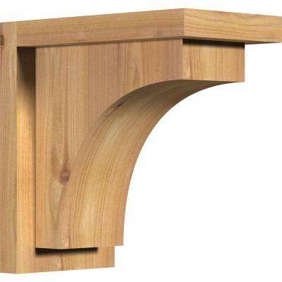 5-1/2 in. x 10 in. x 10 in. Western Red Cedar Huntington Smooth Corbel with Backplate