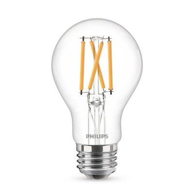 40 W Equivalent A19 Dimmable Energy Saving Clear Glass Indoor/Outdoor LED Light Bulb Daylight (5000K) (4-Pack)