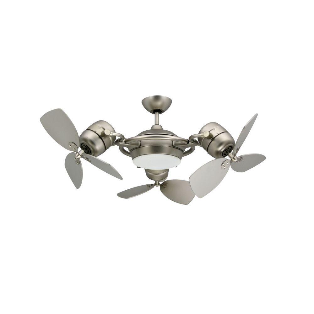 TroposAir TriStar 47 in. Satin Steel Triple Ceiling Fan