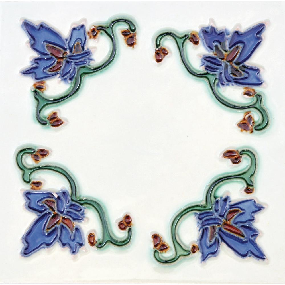 Hand-Painted Ceramic Invierno 6 in. x 6 in. x 6.35 mm