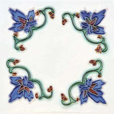 Hand-Painted Ceramic Invierno 6 in. x 6 in. x 6.35 mm Glazed Ceramic Wall Tile (2.5 sq. ft. / case)
